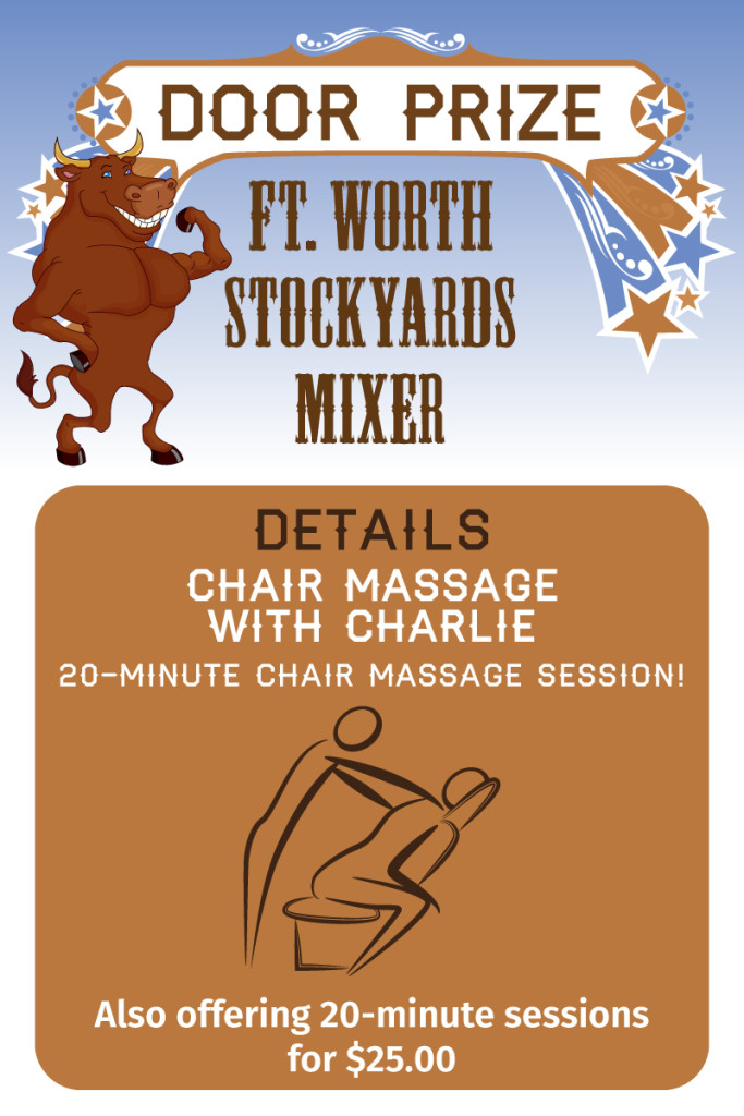 Stockyards-mixer-door-prize-ChairMassageCharlie